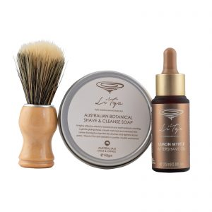 Shave Set Aftershave Oil + Soap + Brush